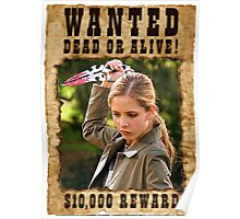 Buffy the Vampire Slayer Wanted Poster
