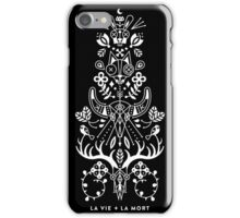 La Vie + La Mort: White Ink iPhone Case/Skin