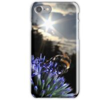 Bumblebee on globe thistle iPhone Case/Skin