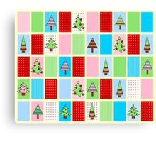 Christmas Squares Canvas Print