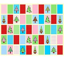 Christmas Squares Photographic Print