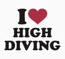 I love high diving One Piece - Short Sleeve