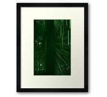 Green Lights - Matrix effect Framed Print