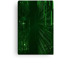Green Lights - Matrix effect Canvas Print