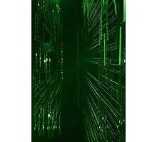 Green Lights - Matrix effect Photographic Print
