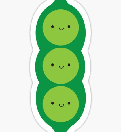 Kawaii Peas in a Pod Sticker