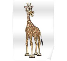 Cartoon Giraffe Poster