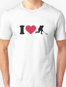 I love hockey player Unisex T-Shirt
