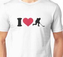 I love hockey player Unisex T-Shirt