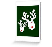 Prancer and Vixen Greeting Card