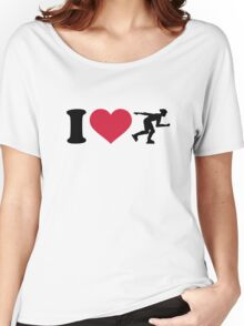 I love Inline skating Women's Relaxed Fit T-Shirt