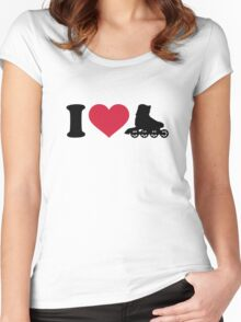 I love Inline skates Women's Fitted Scoop T-Shirt