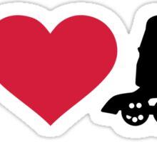 I love Inline skates Sticker