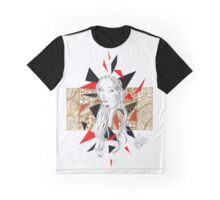 Golden Collage Doodle Graphic T-Shirt