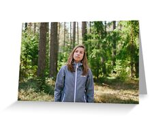 Selfportrait in the forest Greeting Card