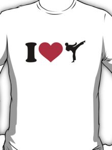 I love Karate Kickboxing T-Shirt