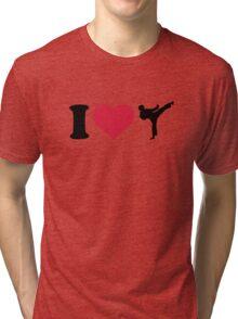 I love Karate Kickboxing Tri-blend T-Shirt