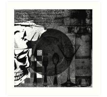 Skull Chef Art Art Print