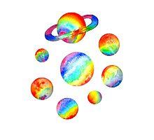 rainbow planets Photographic Print