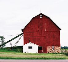 Red Barn in Wisconsin by Emily Rose