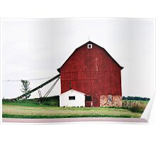 Red Barn in Wisconsin Poster