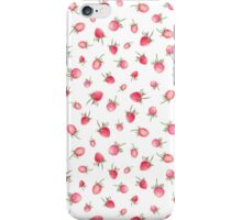 Watercolor strawberries pattern iPhone Case/Skin