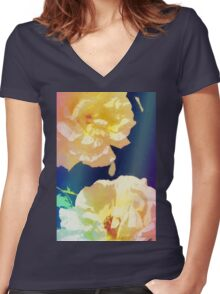 Rose 372 Women's Fitted V-Neck T-Shirt