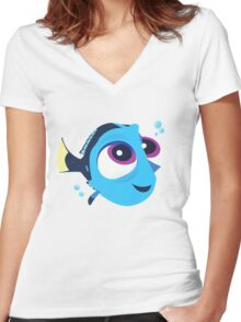 Baby Dory Women's Fitted V-Neck T-Shirt