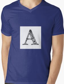 Alphabet Letter A Mens V-Neck T-Shirt