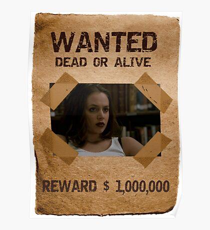 Buffy Faith Wanted Eliza Dushku 2 Poster