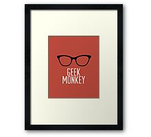 geek monkey Framed Print