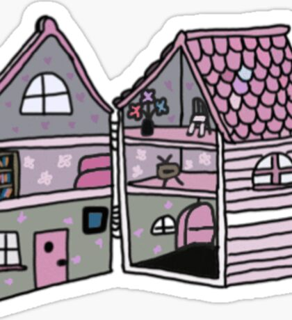 cute pink dollhouse Sticker