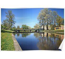 scenic river Spring Poster