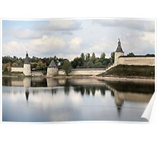 Pskov Kremlin in autumn Poster