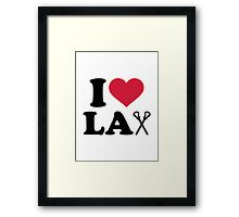 I love Lacrosse Lax Framed Print