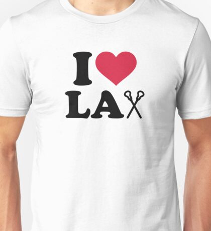 I love Lacrosse Lax Unisex T-Shirt