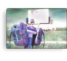Watercolor Drive-in Memories Photo Print Canvas Print