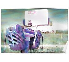 Watercolor Drive-in Memories Photo Print Poster