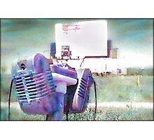 Watercolor Drive-in Memories Photo Print Photographic Print
