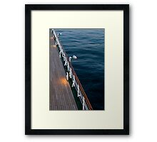 Deck Sea Framed Print