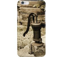 Antique Water Pump on a Concrete Cistern iPhone Case/Skin