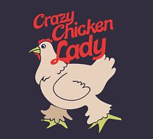 Crazy Chicken Lady Womens Fitted T-Shirt