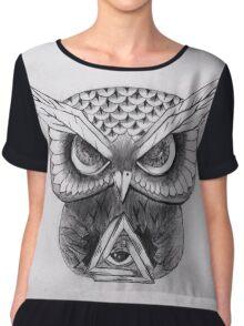 Owl Chiffon Top