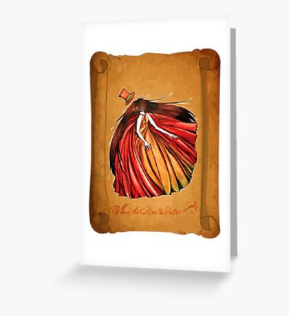 Who is the Mad Hatter ? Red Riding Hood Greeting Card