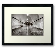 City Rush Framed Print