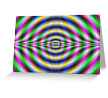 Psychedelic Neon Eye Greeting Card