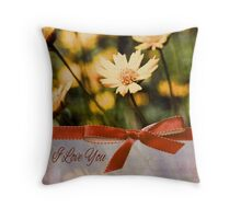 I love you floral Throw Pillow