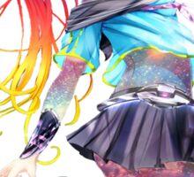 Anime Galaxy Girl Sticker
