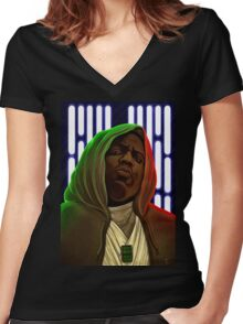 Jedis move in silence and violence Women's Fitted V-Neck T-Shirt