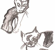Young Astonished Cats by Gabriele Maurus